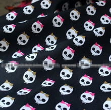 100x110cm Cotton Plain Patchwork Cute Bow Skull  Fabric Home Decoration Material Unique Novelty Fabric Special Cloth