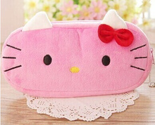 Kawaii 3Colors 10CM Hello Kitty Cotton Coin BAG Purse Women Handbag , Wallet Pouch ; 2Colors - 20CM Gift BAG Pouch Case(China)