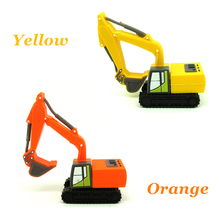 cartoon Excavator truck usb flash drive disk memory stick mini yellow car gift Pen drive personalizado 4g 8gb 16gb 32gb pendrive