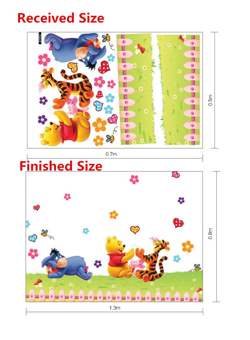HTB1Imiub7fb uJkHFNRq6A3vpXaO - Baby Bear Cartoon DIY Wall Stickers For Kids Children Room Decaor 3d Window Bear Winnie Pooh Nursery Wall Decals