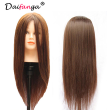 "Wholesale--100% human hair 18"" natural  color 2pieces/lot training cutting practice dye mannequin manikin head hair hairdressing"