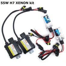 55W Slim HID Ballast kit H7 3000K 4300K 5000K 6000K 8000K 10000K 12000K Green Purple Pink Auto Xenon headlight lamp