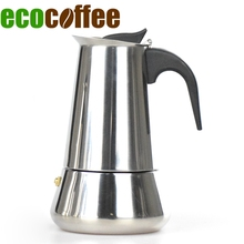 Stainless Steel Moka Pot Espresso Latte Percolator Stove Top Coffee Maker Pot 2/4/6 Cups Mocha Makers