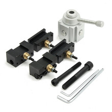 Mini Aluminum Quick Change Multifid Tool Post Boring/Turning Holder Kit For Various Processing For Table Hobby Lathes