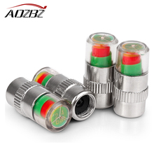 4PCS Air Warning Alert Tire Valve Pressur Cap Car Auto Tire Air Pressure Valve Stem Caps Sensor Indicator Alert New Universal