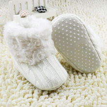 Fantastic Infant Baby Crochet Knit Boots Booties Toddler Girl Winter Snow Crib Shoes First Walkers