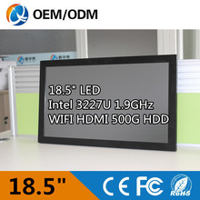 I3 CPU 18.5 inch industrial all in one pc aio pc Resistive touch screen Resolution 1366x768 tablet PC with Intel 3217U 1.9GHz