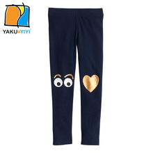 YKYY YAKUYIYI Sweet Pattern Print Girls Pant Brief Elastic Waist Baby Girls Leggings Soft Blue Children Trousers Girls Clothing(China)
