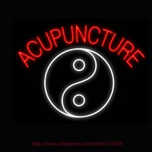 Neon Sign Acupuncture Yin Yang Real Glass Tube Handcrafted neon signs Custom Health Store Display ADVERTISE Free Design 31x24(China)