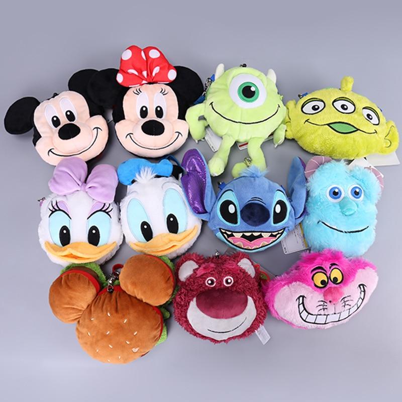 Mickey Mouse Minnie Donald Duck Daisy Strawberry Bear Monster University Plush Backpack Girl Shoulder Bag Children Birthday Gift