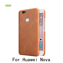Mofi Brand PU Leather Case For Huawei Nova Slim Leather Hard Protective Cell Phone Bag Case Retail Package