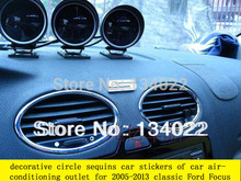 The decorative circle sequins car stickers of car air-conditioning outlet for Ford Focus 2 MK2 2005-2011