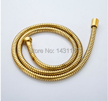"60"" G1/2""B gold EPDM braided stainless steel flexible 1.5m shower hose(China)"