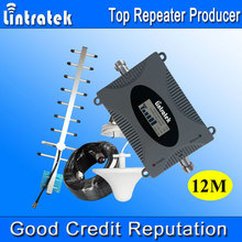 Lintratek 3G Repeater W-CDMA 2100MHz LCD Display Cell Phone Signal Booster UMTS 2100MHz Mobile Phone Signal 3G Amplifier 2017 #