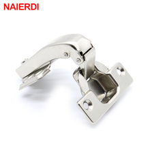 4PCS NAIERDI 90 Degree Corner Fold Cabinet Door Hinges 90 Angle Hinge Hardware For Home Kitchen Bathroom Cupboard With Screws(China)