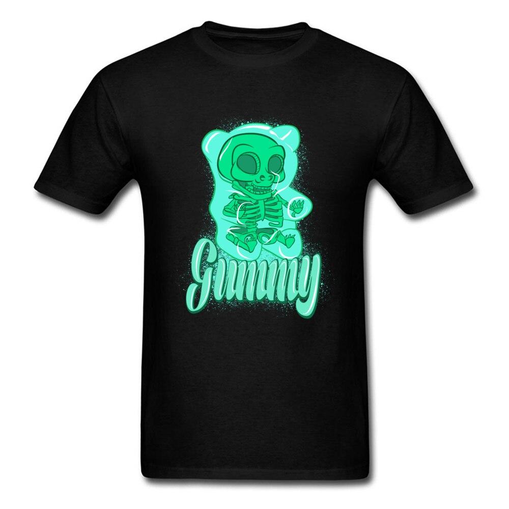 gummy bear Casual Summer Autumn 100% Cotton Round Neck Men Tees Design Tee-Shirt 2018 Discount Short Sleeve Top T-shirts gummy bear black