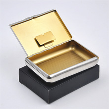 Free shipping 5pcs/lot Silver Tobacco Box Humidor Storage for Fresh Herbs Rolling Tobacco Medicine Container Many Designs(China)