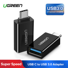 Ugreen USB C адаптер Тип C USB 3,0 адаптер Thunderbolt 3 Тип-C адаптер OTG кабель для Macbook pro воздуха samsung S10 S9 USB OTG(China)