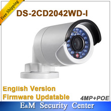 Original hik English version 4Mp Bullet DS-2CD2042WD-I replace DS-2CD2035-I 4MP IR POE Bullet Network Camera DS-2CD2042WD-I(China)