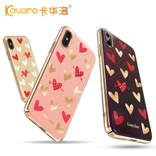 KINGXBAR for apple iphone X 8 8 Plus 7 7 Plus Case Heartbeat Series Authorized Swarovski Crystal Hyacinth 236 Plated PC Cover(China)