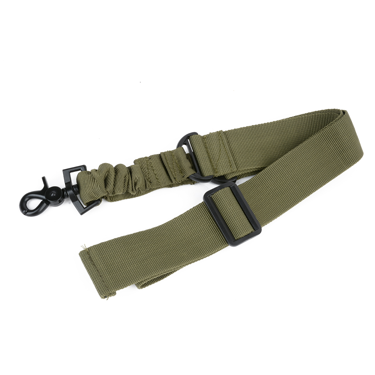 Mayitr Adjustable Tactical Gun Rifle Sling Strap 1 One Single Point Strap Safety Belt Rope with Metal Hook