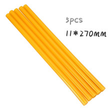5pcs Yellow 11*270mm Hot Melt Glue Sticks Strong Glutinosity for Hard Dent Repair Removal Tools High Quality