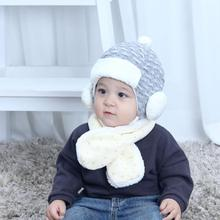 Baby Winter Warm Cap Hat Beanie Pilot Crochet Earflap Hats newborn prop outfit Newborn Photography Props Unisex(China)