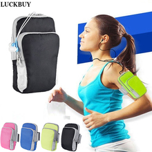LUCKBUY phone Sport Running Armband Holder Arm Band Bag Case for iphone7 6S 5S ipod touch for Samsung for Sony HTC Xiaomi Huawei(China)