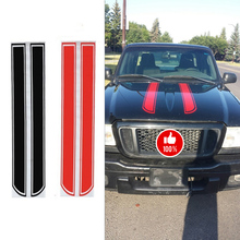 1 Pair Hot Sale Hood Sticker Universal Car Sticker Car Decoration For Ford Mustang For Charger Challenger Journey Viper Dart(China)