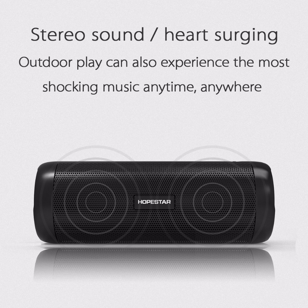 HOPESTAR P4 Outdoor Wireless Bluetooth Speaker Power Bank 10W Portable Bass Stereo Loudspeaker MP3 Handsfree With Flashlight