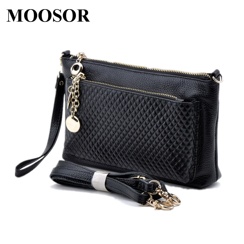 New Arrival Genuine Leather Fashion Woman Handbag Cowhide Womens Day Clutch 4 Colors Coin Purse Shoulder Bags Women Bag DC20<br>