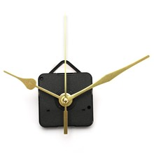 High Quality New Gold Hands Quartz Black Wall Clock Movement Mechanism Repair Parts Silent  Plastic + Aluminum