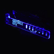 Hot Blue GeForce GTX LED Luminous Computer Office Main Box HIS Graphics Cards Custom Support Frame Display Card Components Jack(China)
