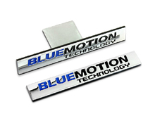 10pcs Chrome Metal bluemotion Car Grille Stickers Emblems Decoration Blue Motion Car Styling for CC Golf 6 7 Polo Jetta Passat(China)