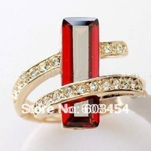FREE SHIPPING>>>@@ Wholesale Unique Vogue Style Crystal Jewelry ring 11 Colors Free Optional size 6,7,8,9 / S 1pcs
