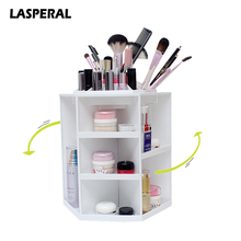 Fashion 360-degree Rotating Makeup Organizer Box Brush Holder Jewelry Organizer Case Jewelry Makeup Cosmetic Storage Box(China)