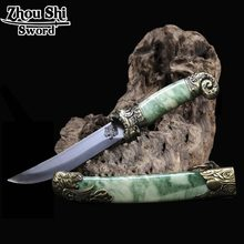 Classic Decoration Small sword alloy Loaded with Beautiful Green sheath Stainless steel Blade Material Technology Unique Gift