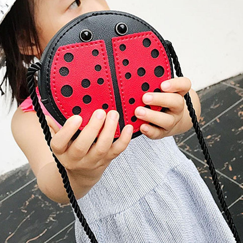 Ladybug Cute Children'S Shoulder Bag Personality Wild Purse Mini Accessories Bag title=