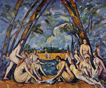 hand-painted oil painting reproduction of Cezanne famous artists painting  canvas paintings The Large Bathers