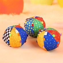 Funny Educational Colorful Rattle Ball Toys Gift Cute Baby Soft Cloth Bell Ball Toys Training Grasping Ability Toy For Kids