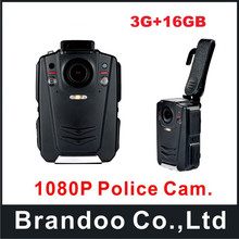 Police Body Worn Camera Ambarella A12 Full HD 1080P IR Night Vision 2inch LCD Body Cam 16GB with 3G function