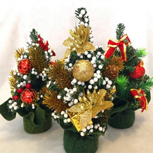 Christmas Decorations Colorful Miniature Pine Christmas Tree 20CM Tall(China)