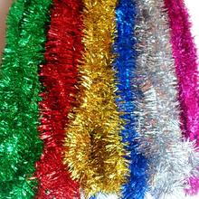 2 Meters Plastic Color Streamers Wall Christmas Tree Surround Ribbon Christmas Garland Decoration Wedding Party Supplies 5pcs