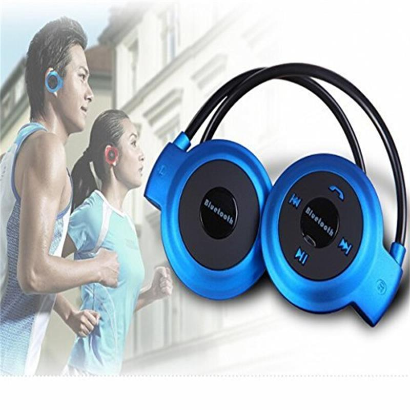 New Mini 503 Headphones Portable Neckband Sport Wireless Bluetooth Headsets Stereo Earphone Micro SD Card FM Radio Earphones