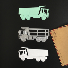 1pc New Vehicle Truck Metal Cutting Dies Stencils DIY Scrapbooking Photo Album Embossing Paper Cards Decoration Cut Die Template(China)