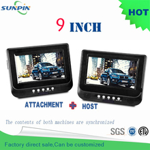 Dvd 9 inch double din Car Vcd Portable Dvd Player Support For Sd / Ms Mmc Card car pillow headrest mounted kids for travelling(China)