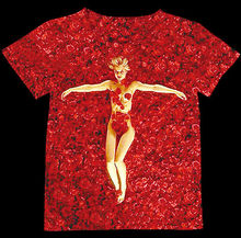 Track Ship+Vintage Retro Good Feeling T-shirt Top Tee American Beauty Red Rose Flower Bed Nake Girl 0831
