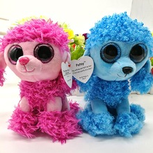 2pcs/lot 15cm Ty Original Beanie Boos Mandy Blue Poodle Patsy Red Plush Toy Stuffed Animal Doll Kids Toy Cute Birthday Gift Hot(China)