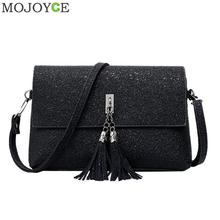 Buy Women Fashion PU Leather Messenger Bag Tassels Small Envelope Bag Crossbody Shoulder Bags Black Small Handbags Brand Female Bags for $9.25 in AliExpress store