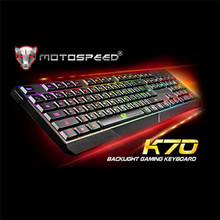 MOTOSPEED Wired Gaming Keyboard with Colorful Lights One Machine Dedicated Slim Gamer Keyboard for Windows7/8 /XP/ Vista